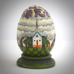 Jim Shore Heartwood Creek Church Townsquare 3D Egg
